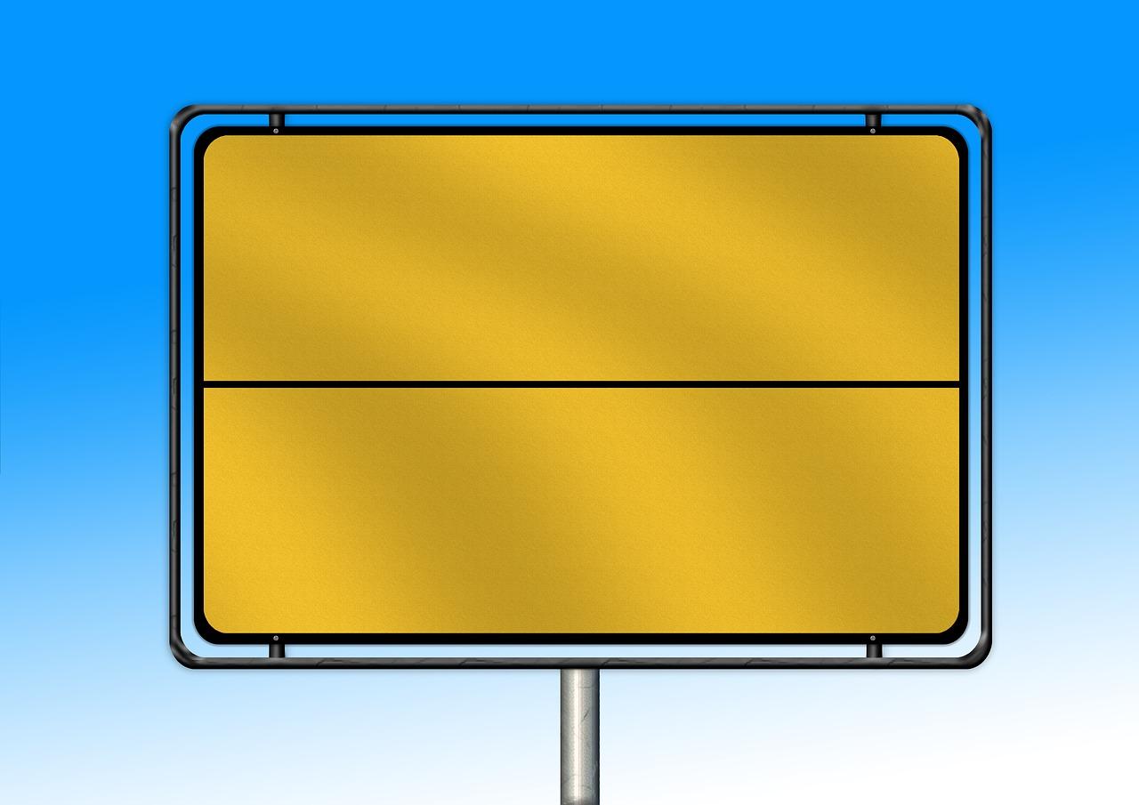 Mockup Town Sign Billboard Free Image On Pixabay