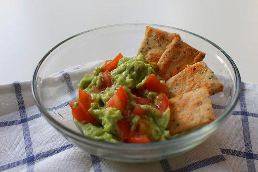 Guacamole, Avocado, Food, Cracker, Snack