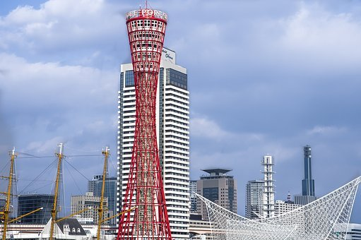 Japan, Kobe, Tower, Port, Architecture