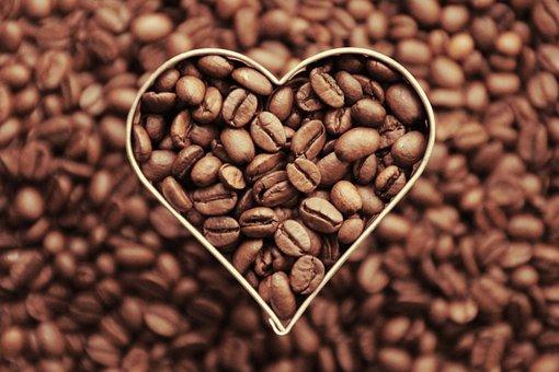 Coffee, Coffee Beans, Heart, Love, Aroma