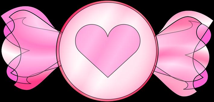 Graphic, Valentine Candy, Heart, Pink