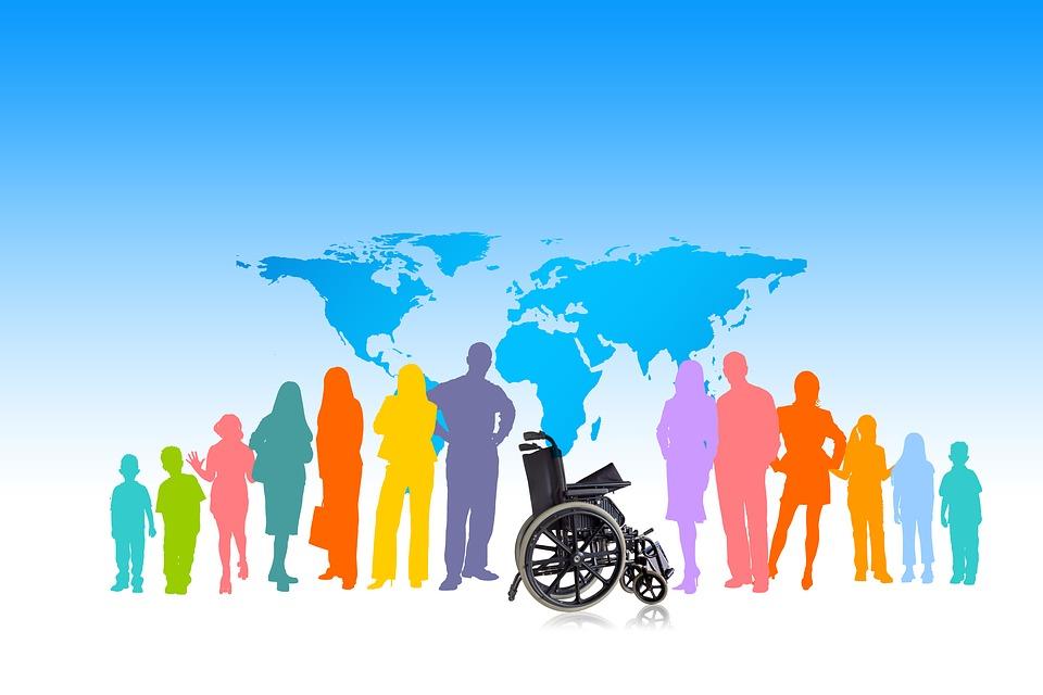 Inclusão, Grupo, Cadeira De Rodas