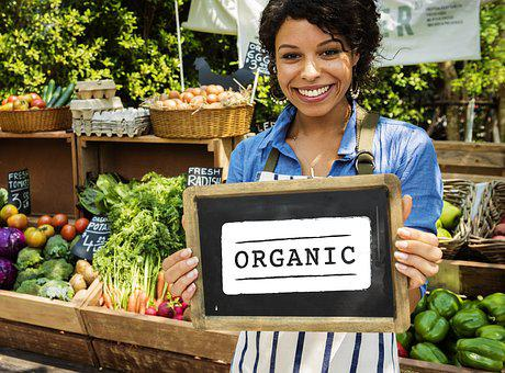 Organic, Woman, Board, Farm, Food