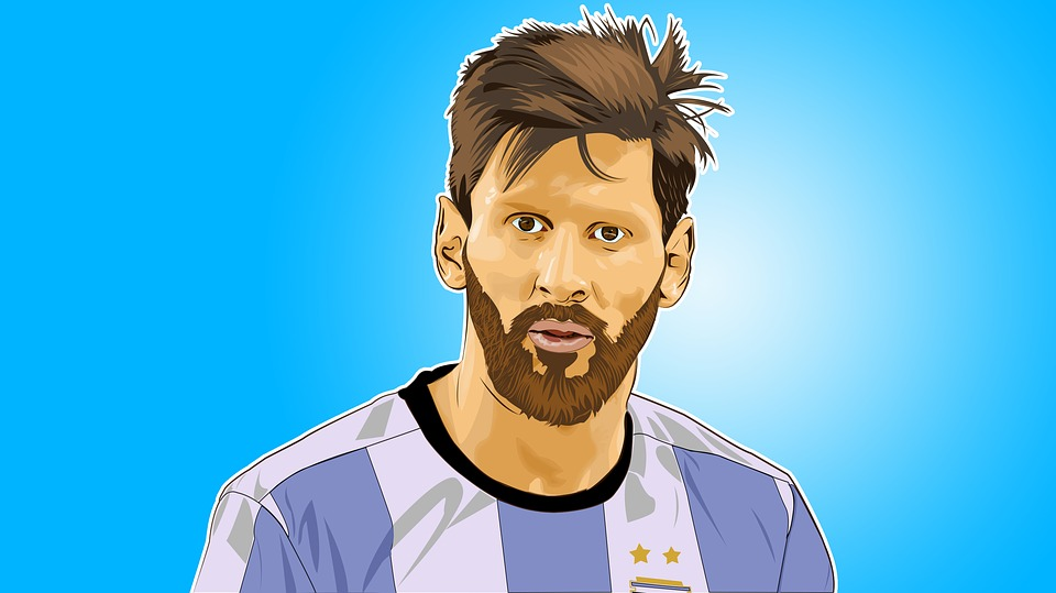 Lionel Messi, Messi Arte Del Vector, Retrato