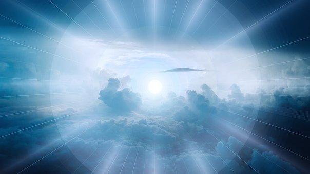 Clouds, Sky, Light, Head, Silhouette