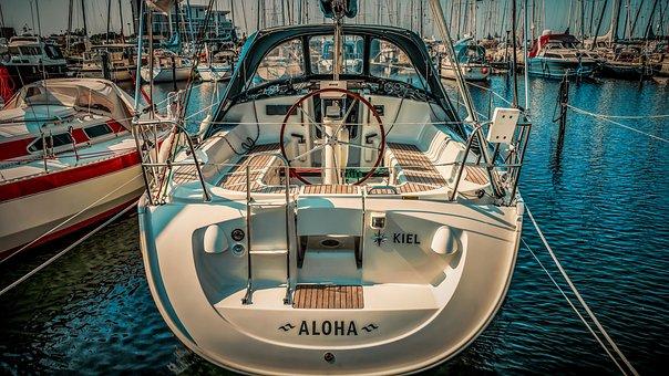 Barco a motor, barco, iate, iate a motor