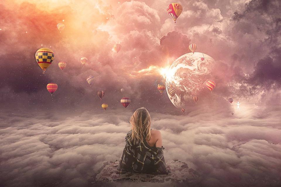 Небо, Любовь, Духовные, Выше, Вверх, Сон, Воздушный Шар