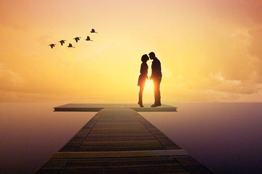 Sea, Jetty, Romantica, In Love