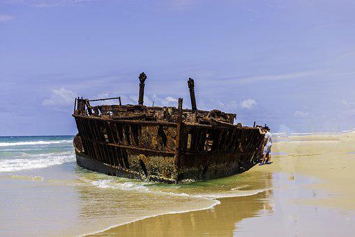 Ship, Wreck, Fraser, Island, Sky, Sand 15 Stunning Beaches around Australia to Explore in 202