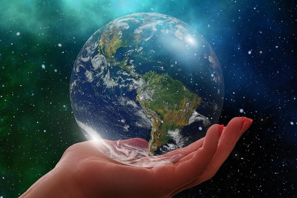 Глобус, Earth, Америка, Сащ, Южна Америка, Свят, Ръка
