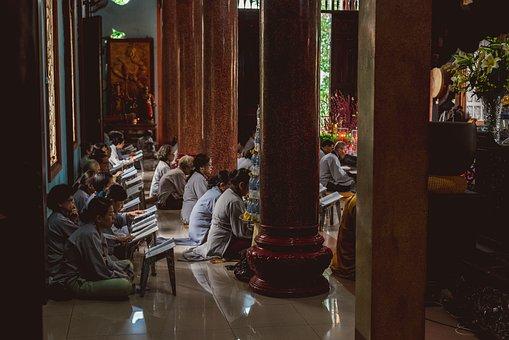 Buddhist, Temple, Pagoda, Prayer, Monk