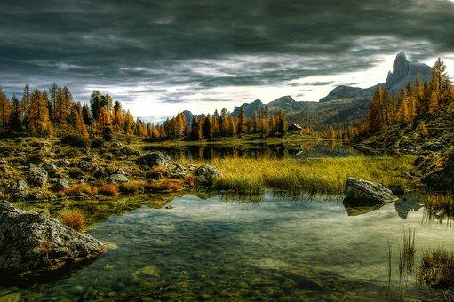 Lago Federa, Dolomites, Alpine