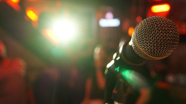 Microphone, Stage, Light, Show, Music