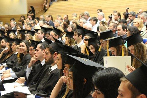 大学生, 卒業証書, 大学院, タッセル, 帽子, 大学, 大学生, 大学生
