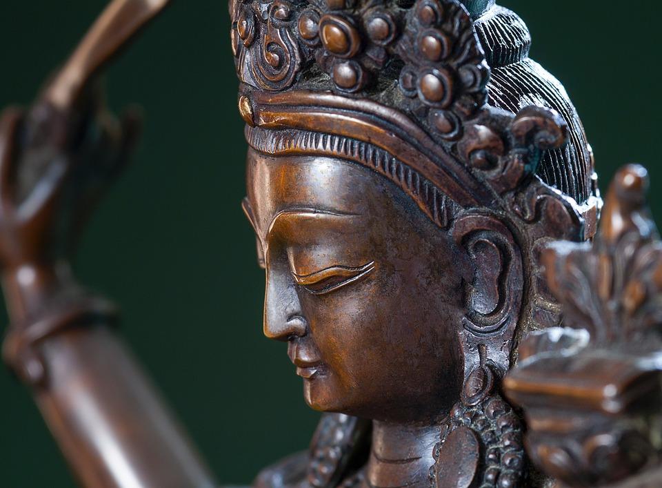 菩薩, 仏教, 仏, 宗教, 霊性, 彫刻, 思いやり, 精神的です, アジア, チベット, 青銅, 記号