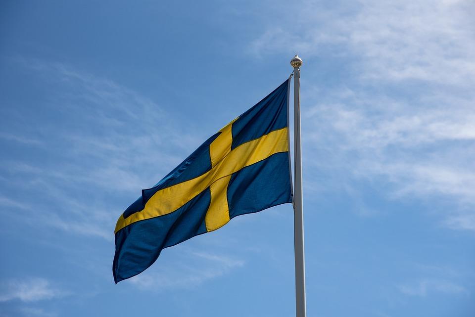 スウェーデンの旗、スウェーデン、青と黄色、建国記念日