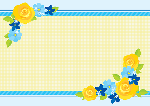 Yellow Rose Background, Blue Checkered,Know more about the days leading up to Valentine's day like Rose Day, Chocolate day and Anti-Valentine's day like break up day, slap day and more.