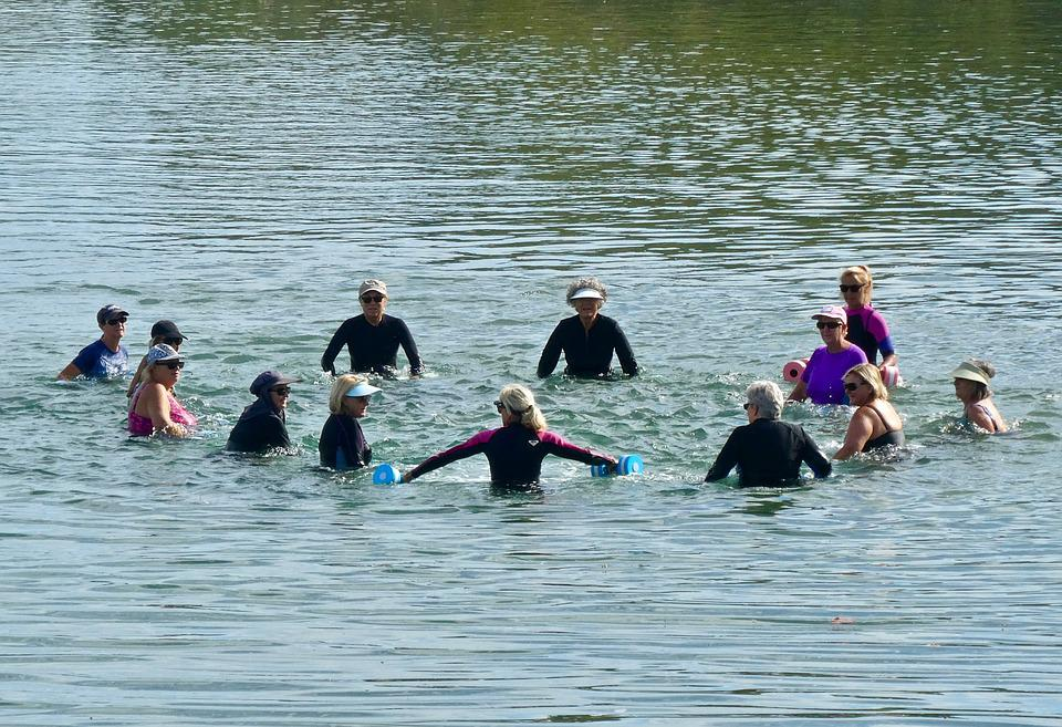 Swimmers, Exercise, Elderly, Group