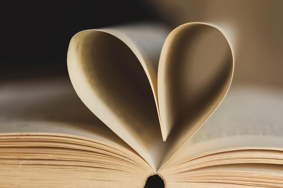 Buch, Seiten, Buch Seite, Herz, Papier, Lesen, Offen