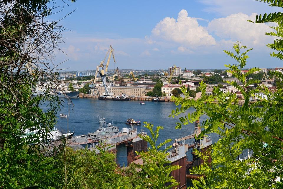 Sewastopol, Crimea, Morze, Rosja, Lato, Natura, Podróży