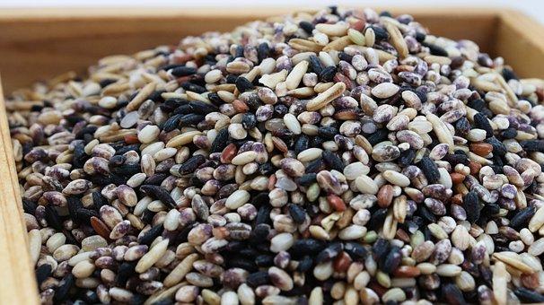 米, ご飯, 雑穀, 色, Food, 微粒子, 穀物, 紅米, Korea