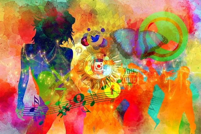 Social Media, Abstract, Woman, Modern, Dance, Disco