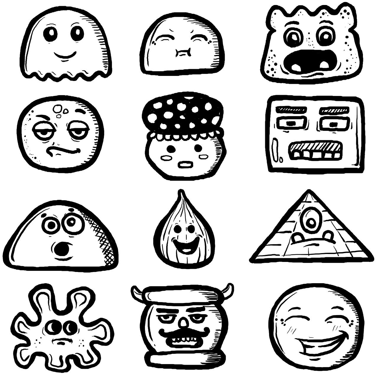 Corat Coret Kartun Digambar Tangan Gambar Gratis Di Pixabay