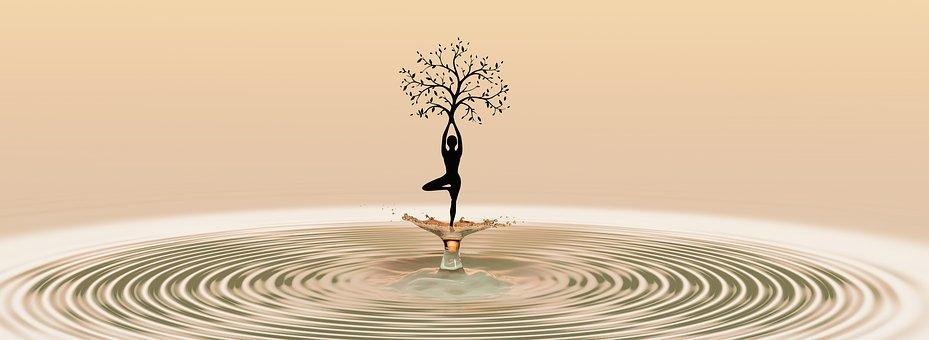 Danse, Yoga, Méditation, Femme, Fitness