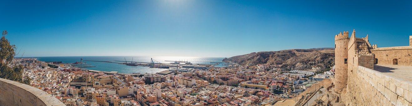 Almería, Panorama, Alcazaba, España