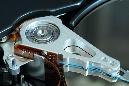 ハード ディスク, ディスク, ドライブ, ヘッド組立, 頭, 磁気, 記録