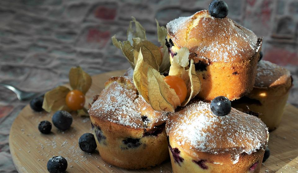 Muffin, Mirtilli, Dessert, Mirtillo, Torta, Caramella