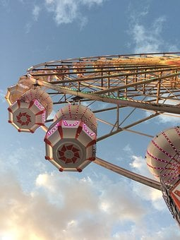Fair, Wheel, Ferris Wheel, Colorful