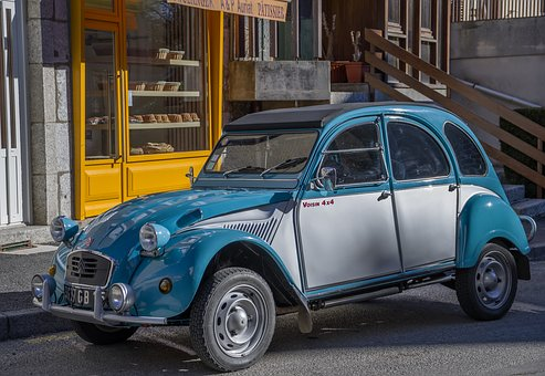 Car, 2Cv, Oldtimer, Citroën, Automobile