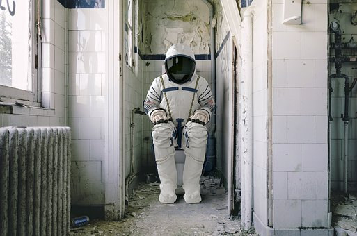 Astronaut, Wc, Space Travel, Toilet