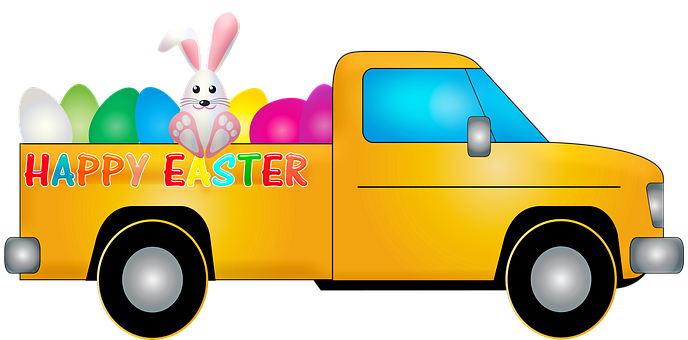 Easter Truck, Easter, Rabbit, Bunny