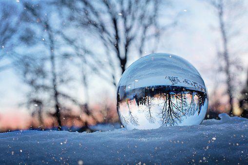 Crystal Ball, Snow, Winter, Snowy