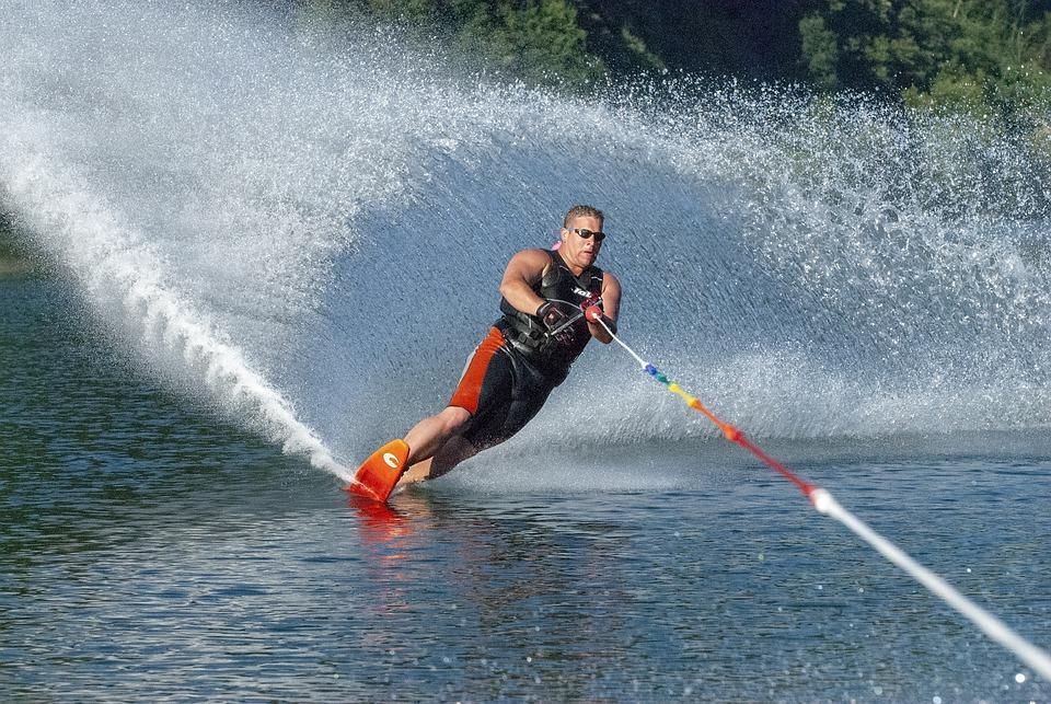 Sport, Waterskiër, Vannski, Ferie, Vann, Hastighet