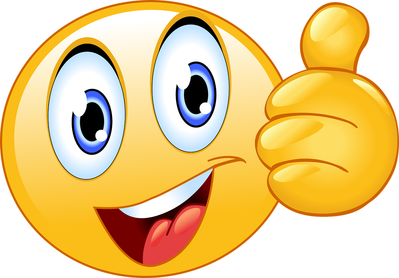 Thumbs Up Smiley Face Emoji - Free vector graphic on Pixabay