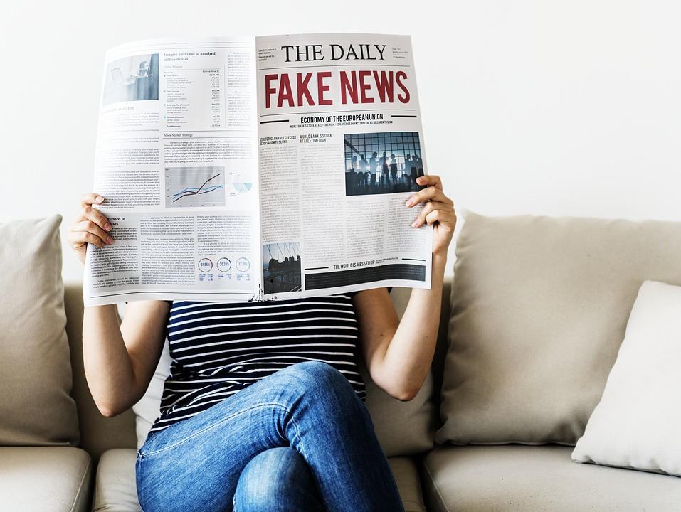 Newspaper Warns About Fake News