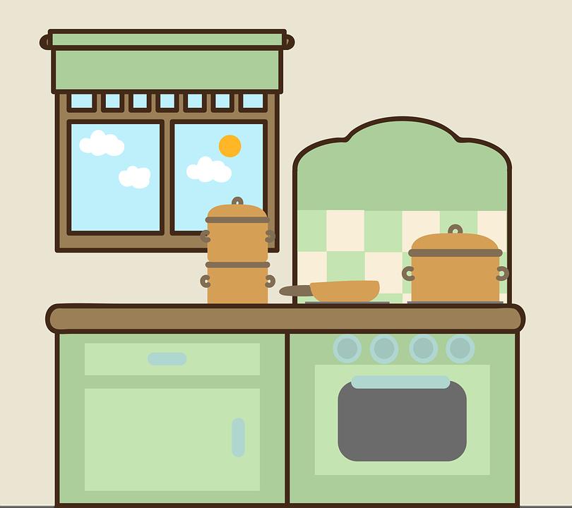 Кухня, Прозорец, Уреди, Готвене Гърне, Тиган, Фурна