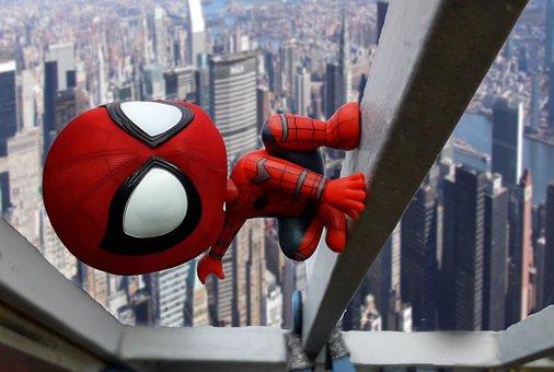 スパイダーマン, 驚異, クモ男, おもちゃ, 建物, スパイダーマン
