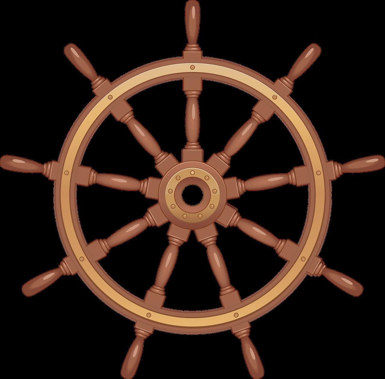 Картинка штурвал на корабле
