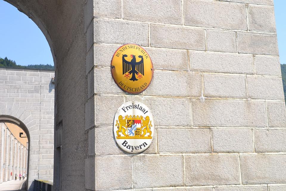 Grenze, Brücke, Fluss, Reisen, Deutschland, Bayern