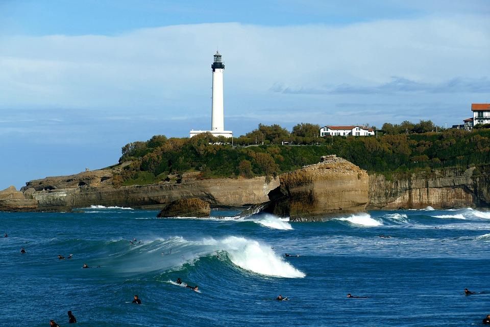 Biarritz, Tengeri, Óceán, Építészet, Franciaország