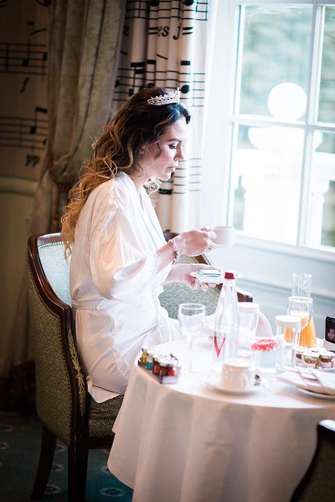 花嫁, 朝食, 城, ユナイテッド, タワー, 休日, パリ, 宮殿, シンデレラ, 結婚式