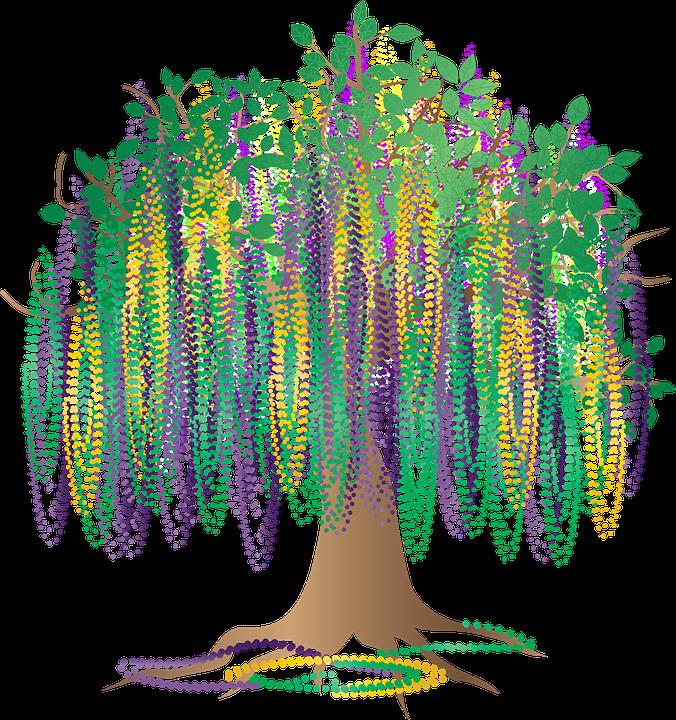 Graphic Bead Tree Bourbon Street Free Vector Graphic On Pixabay