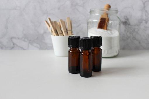 Essential Oils, Wash, Wood Clamp