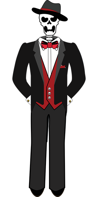 Graphic Skeleton Tuxedo , Free vector graphic on Pixabay