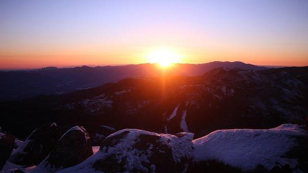 雪山, 登山, 日本, 山, 自然, 空, 絶景, Mt, Tateshina