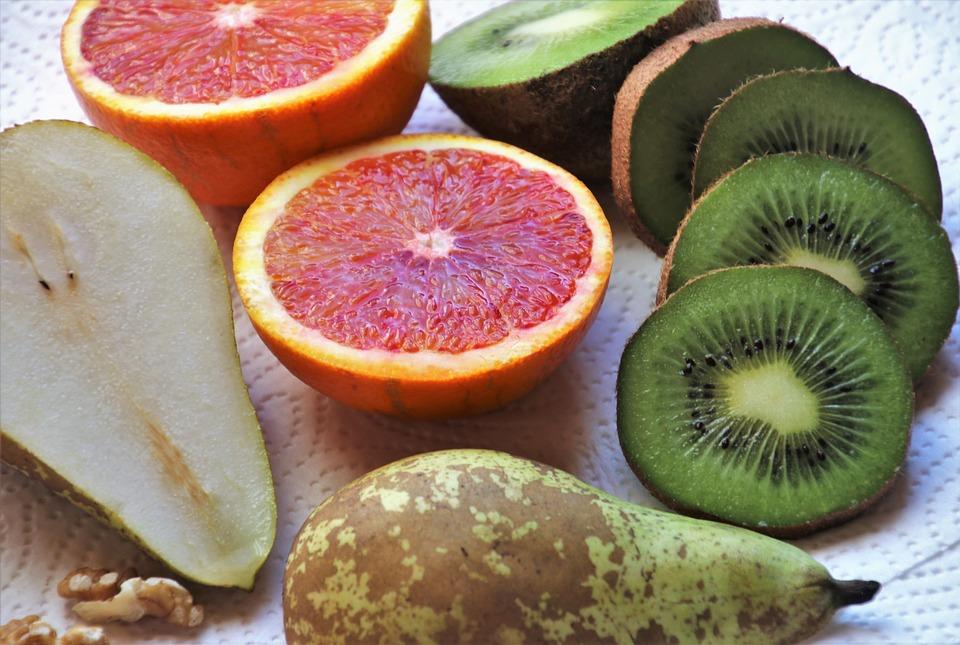 Kiwi, Pera, Mandarino, Antipasto, Frutta, Dieta, Cibo